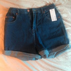 Frank & Oak high rise jean shorts
